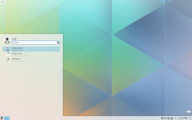 Searching for files in Plasma 5.