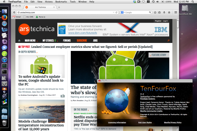 TenFourFox brings most of the features from the Firefox ESR releases to PowerPC systems running 10.4 and 10.5. I don't love it, but it gets the job done.