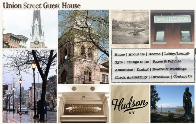 The Union Street Guest House's imagemap homepage.