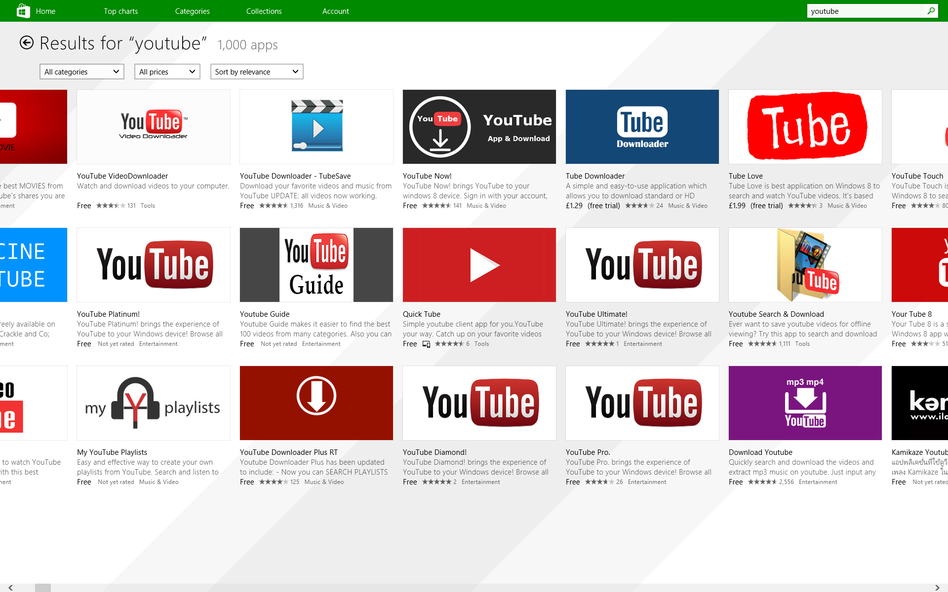 They may say YouTube and they may use the YouTube logo, but none of these apps has anything to do with Google.