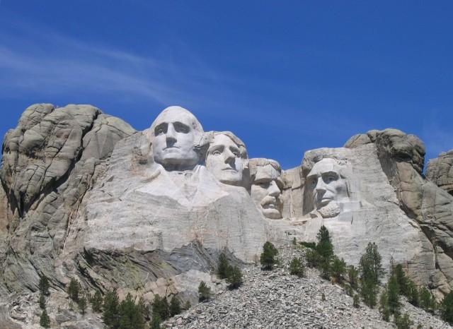 Mount Rushmore near Keystone, South Dakota.