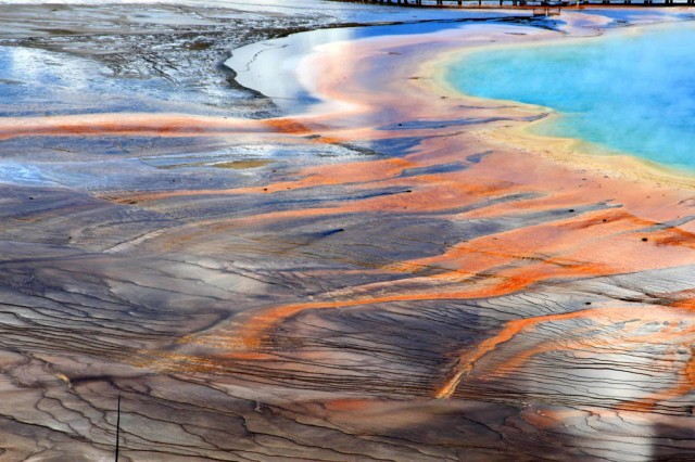 Theodorus Van Vliet crashed his drone into Grand Prismatic Hot Spring (seen here) in Yellowstone National Park.