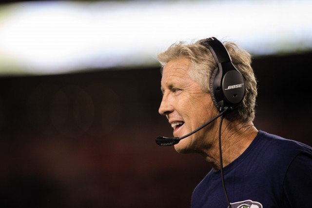 "Super Bowl-winning coach Pete Carroll actually prefers the one-eared version of Bose's new noise-canceling Bose NFL Headset: ""I'm a one-eared kind of guy."""