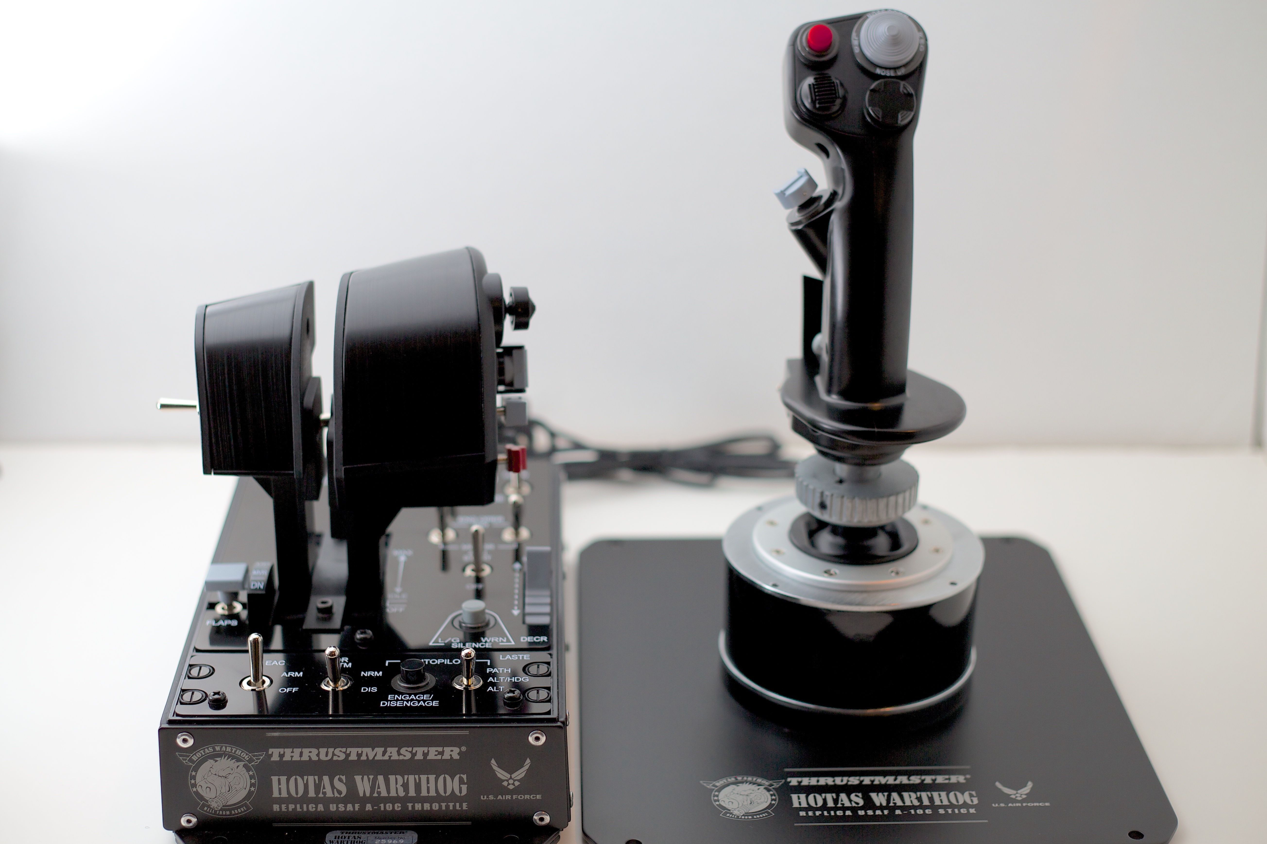 The Thrustmaster HOTAS Warthog.