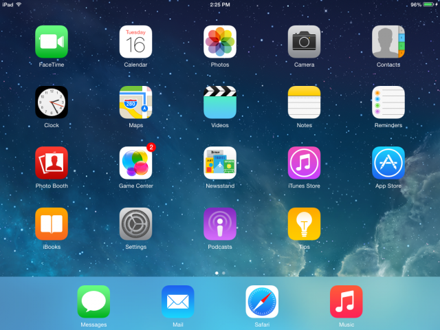 iOS 8 doesn't make a huge difference, visually, save a few small points.