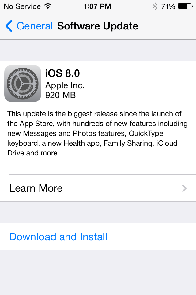 iOS 8 has been released to the public.