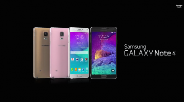 The Galaxy Note 4.