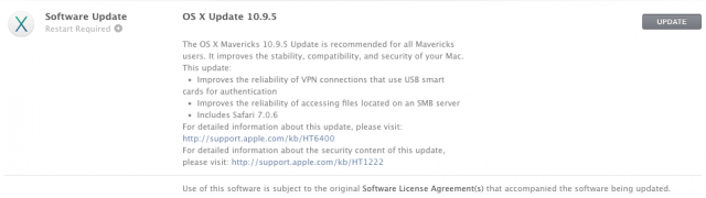 Apple releases OS X 10.9.5 with fixes, new code signing requirements [Updated]