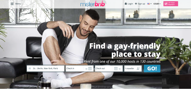 In 2014, who decides to ban a gay website from in-flight Wi-Fi?