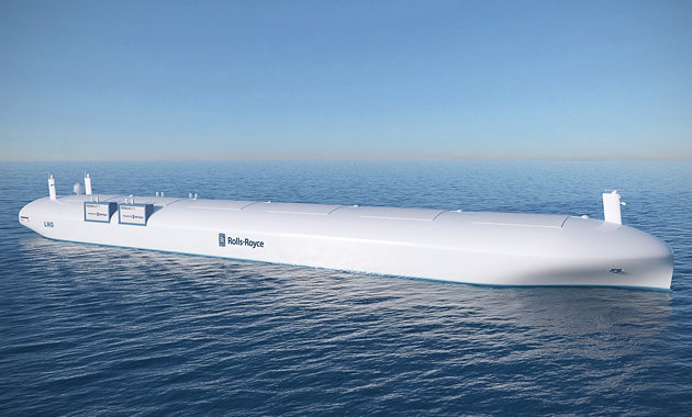 A design for a Rolls-Royce robotic ship based on the research of the EU's Project Munin. No crew required.