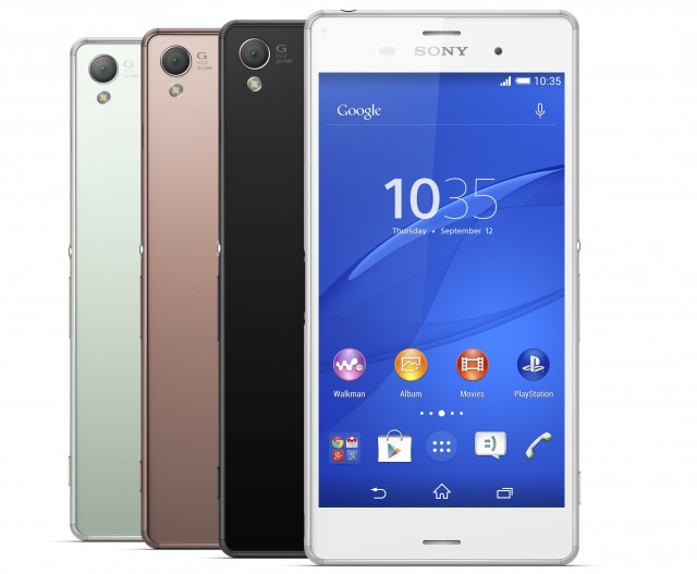 The 5.2-inch Sony Xperia Z3.