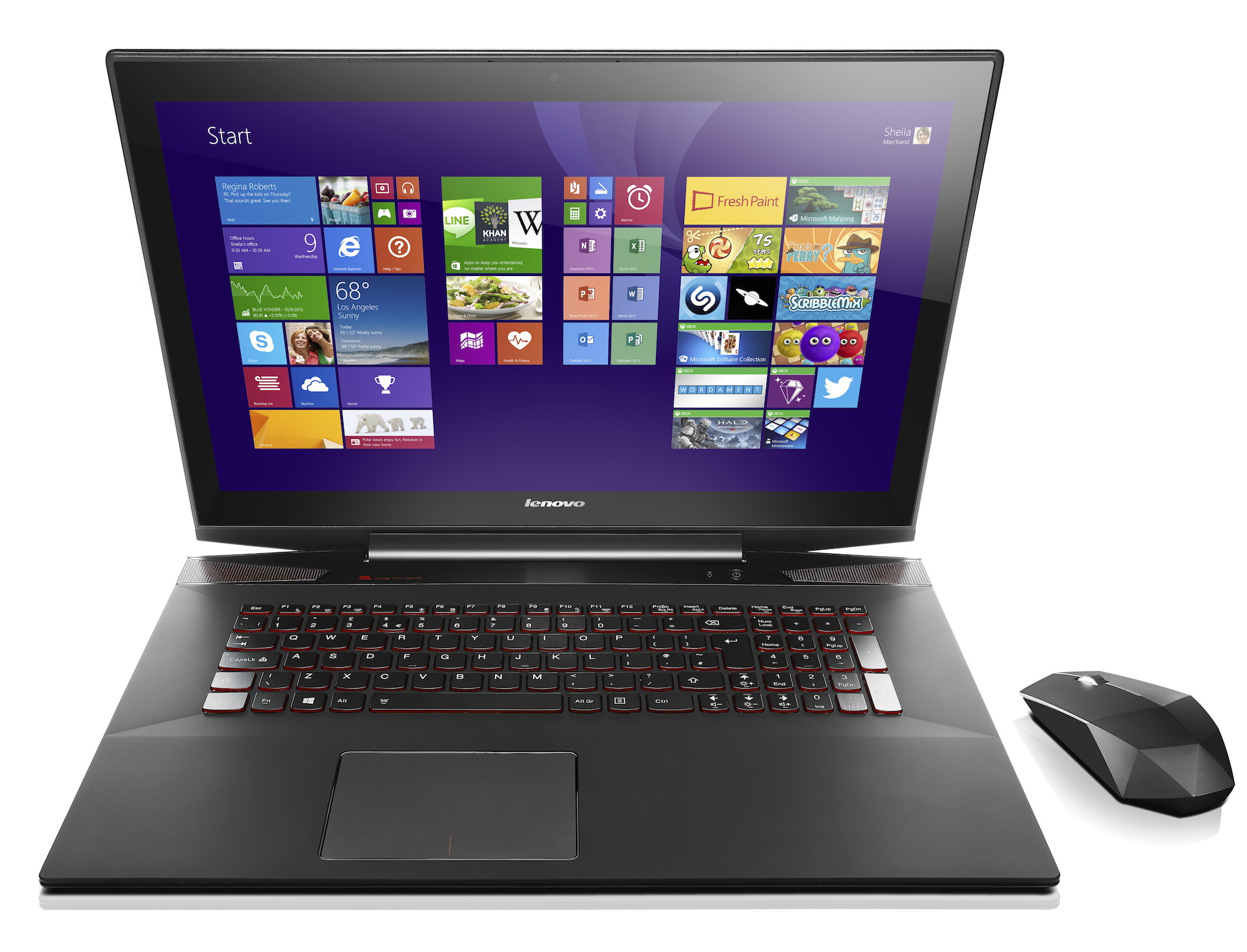 The Y70 Touch gaming laptop.