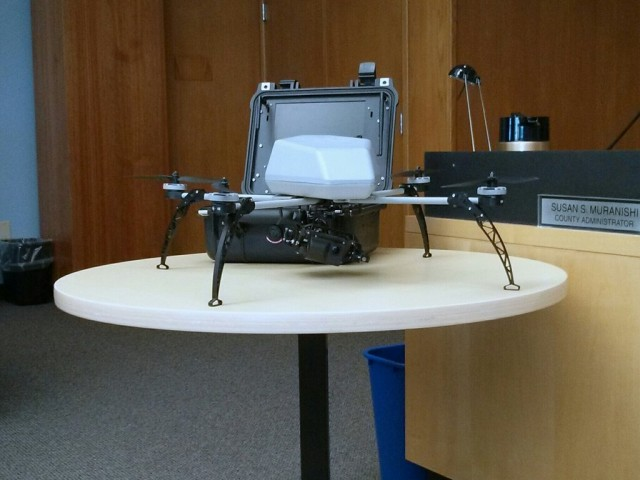 Alameda County police in Northern California are inching toward flying camera-equipped drones like this one.
