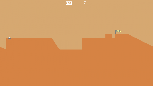 Hit it too soft, and get stuck in the valley. Too hard, and bounce and roll down the back end. That's <i>Desert Golfing</i>, repeated thousands of times over.