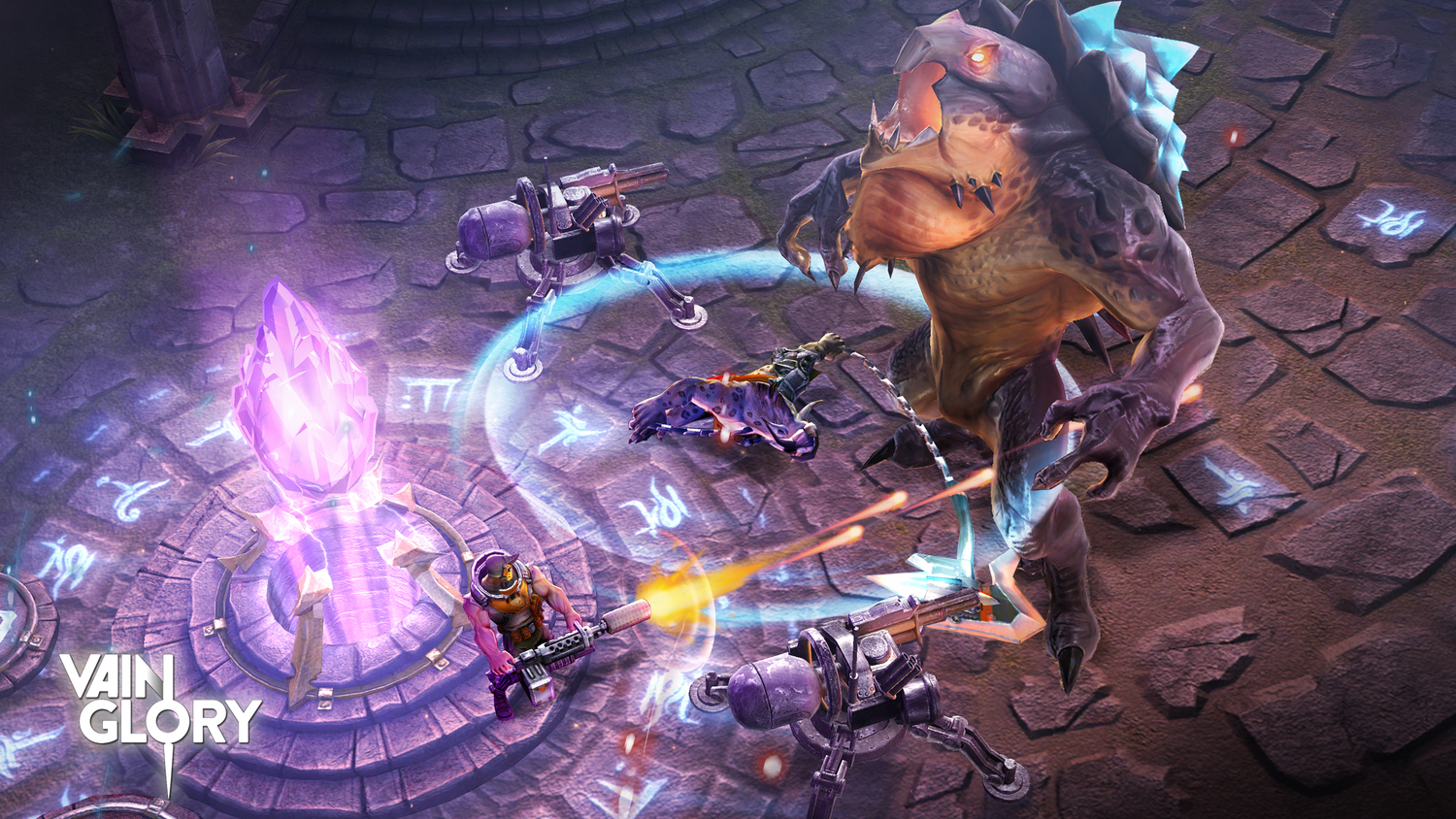 <i>Vainglory</i>, one of the first games to use Apple's Metal API.