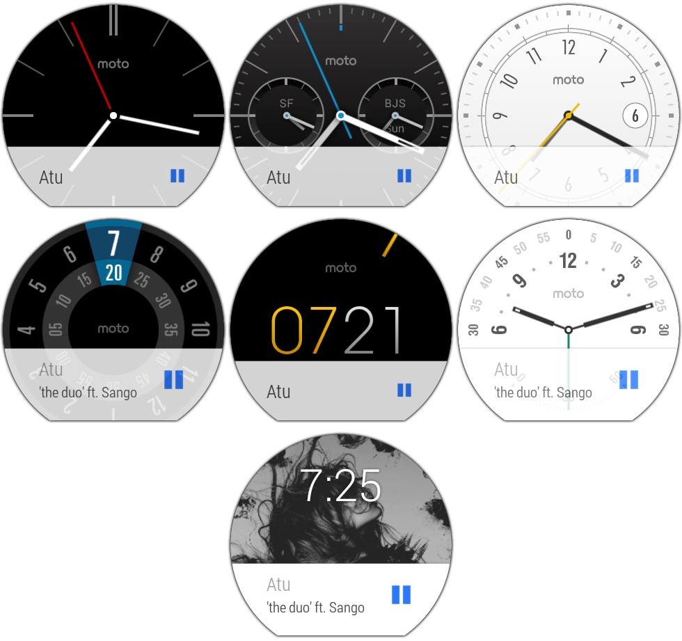 Motorola's watch faces.