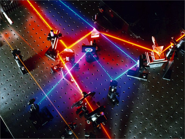 The lasers involved look nothing like these.