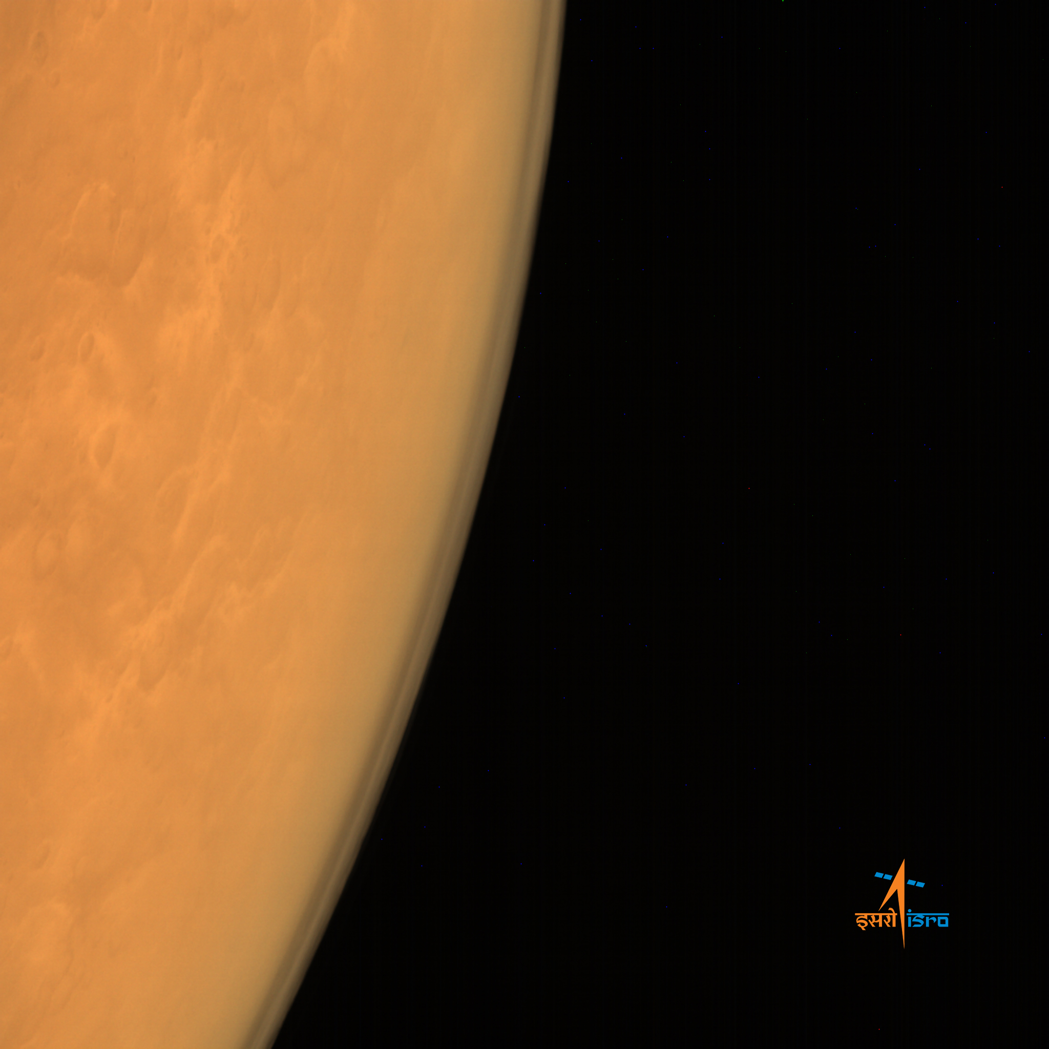A view through the thin Martian atmosphere.