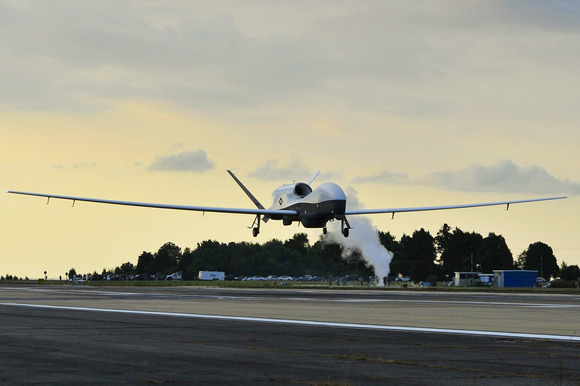 Giant MQ-4C Triton surveillance drone flies across the United States