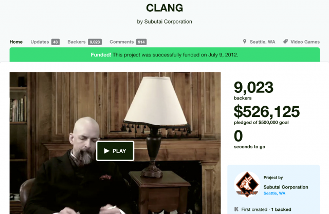 Neal Stephenson announced the cancellation of his Kickstarter game, Clang, one day before Kickstarter revealed new, more detailed guidelines for project creators and backers.