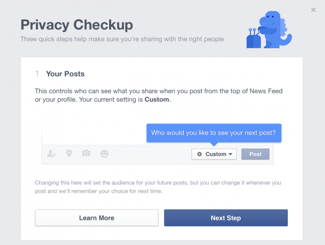 "Facebook's ""privacy checkup"" aims to make users comfortable again"