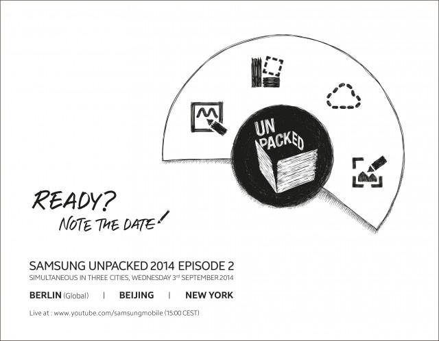 Samsung's Unpacked 2014 event invite.