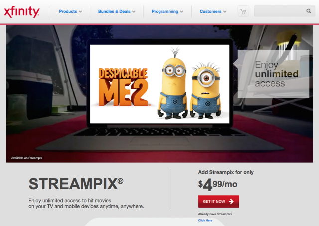Comcast: Our Netflix competitor is too unpopular to survive on its own