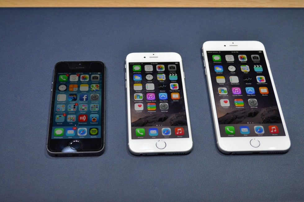 The iPhone 5S, 6, and 6 Plus.