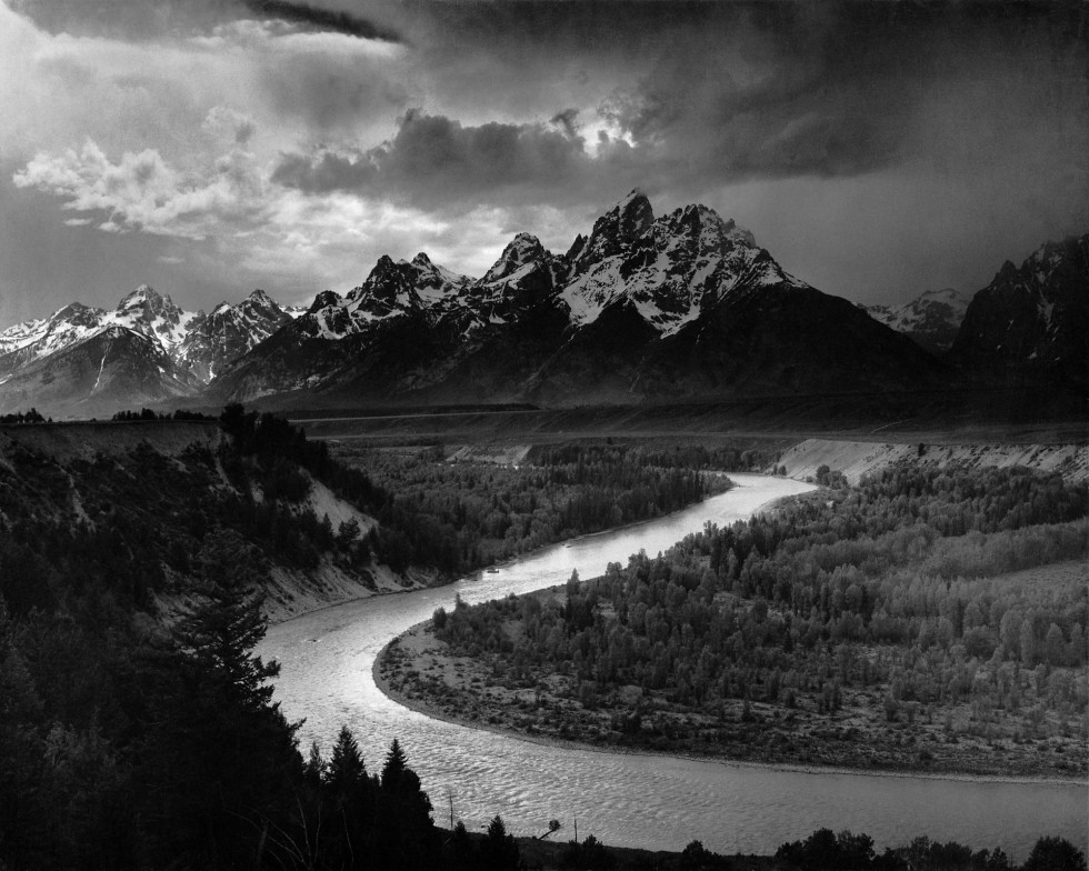 "Ansel Adams, ""The Tetons and the Snake River""—a photograph taken by a master."