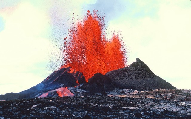 Hawaii's Puʻu ʻŌʻō eruption. And you thought Iceland got all the good volcano names.