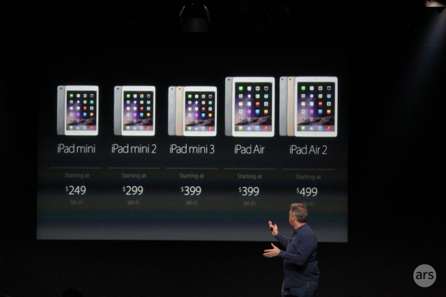 Apple drops old iPad Mini to $249, iPad Mini 2 to $299