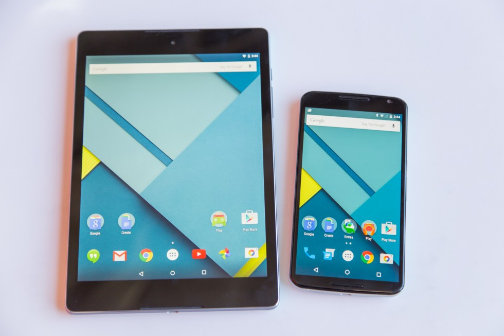 The Nexus 9 and Nexus 6.