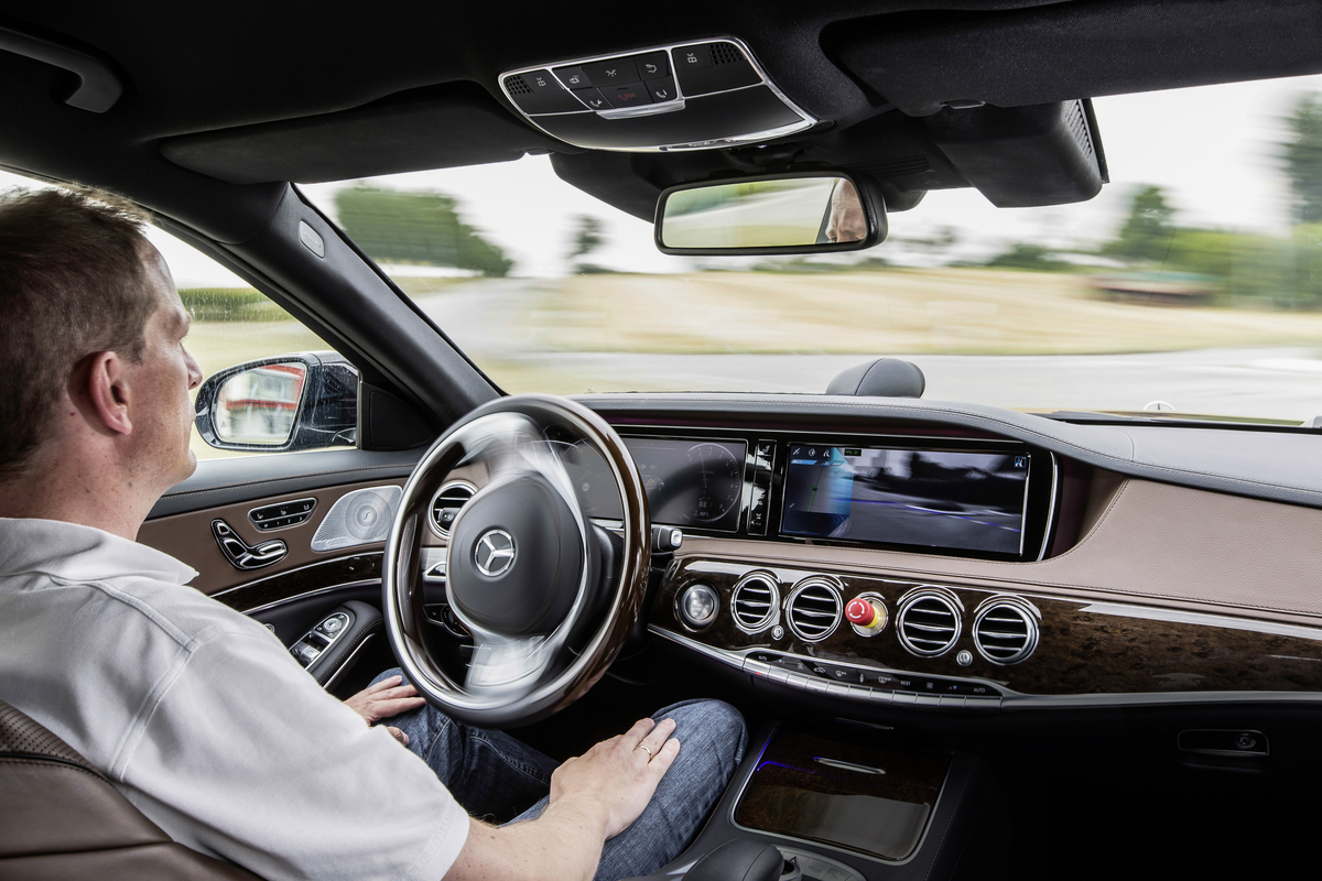 Mercedes-Benz has been testing its autonomous driving system, Intelligent Drive, in an S-Class.
