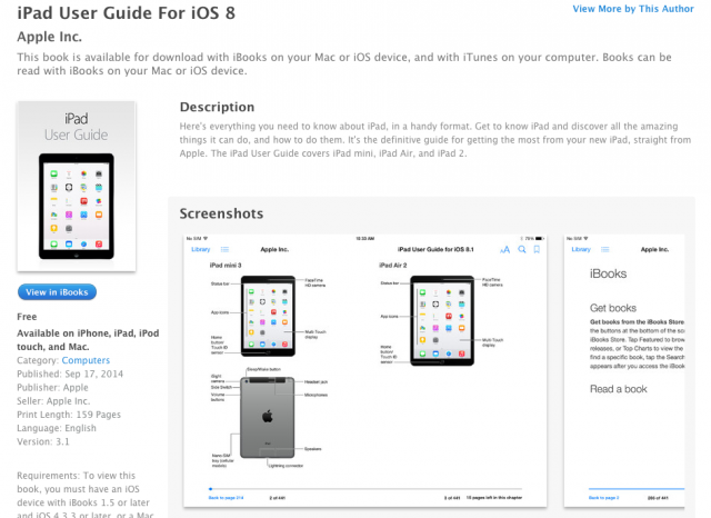 Apple's iBooks listing has accidentally revealed information about its new tablets.