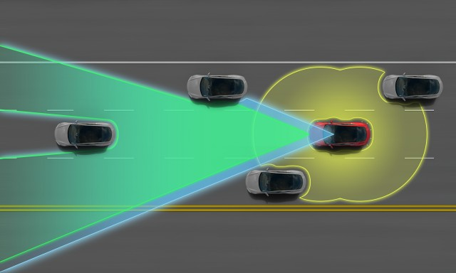 A bevy of sensors will give the updated Model S significant situational awareness.
