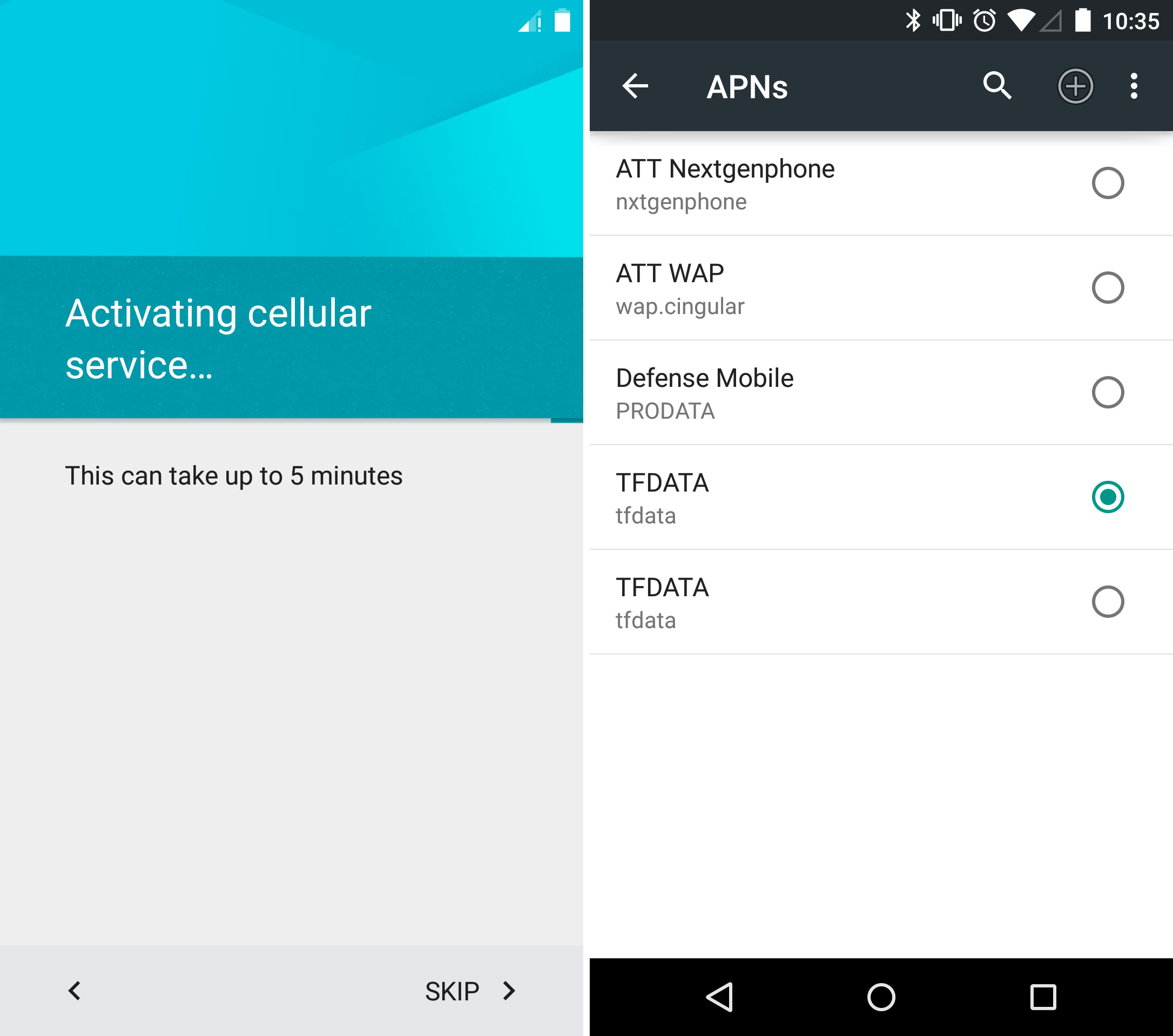 Android 5.0 can automatically figure out your APN settings. Track the settings screen down and you'll see it finds a ton of stuff.