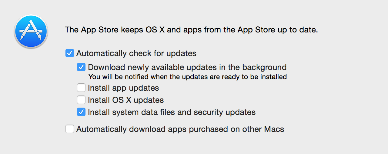 The new option to install OS updates automatically is not on by default… for now.