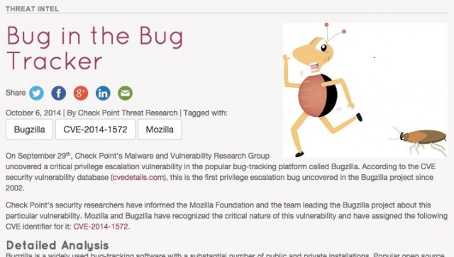Bugzilla 0-day can reveal 0-day bugs in OSS giants like Mozilla, Red Hat