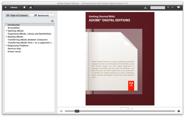 Adobe even logs what you read in Digital Editions' instruction manual.
