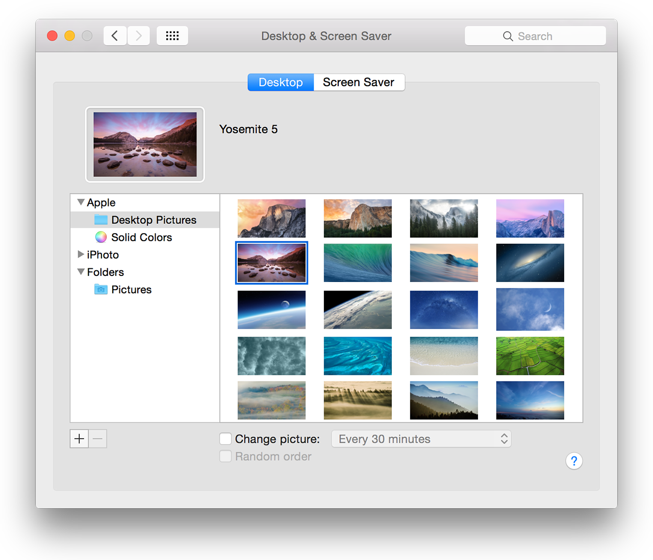 New pictures of Yosemite National Park, but no more translucent menu bar toggle.