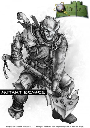 An artist's character sketch for the never-completed Quantum sci-fi fantasy RPG.