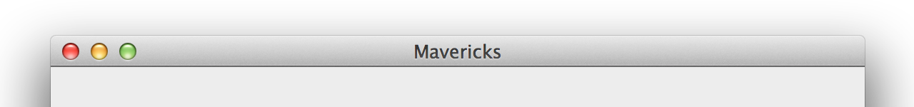 A Mavericks window title bar.