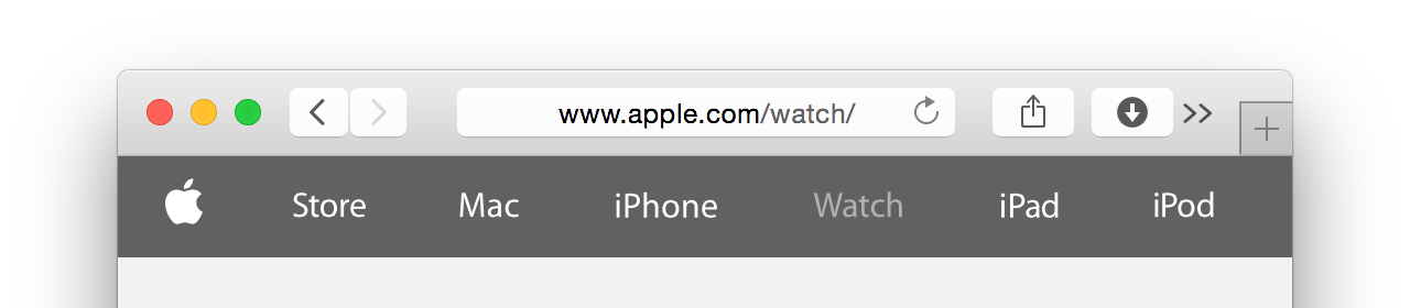 Safari attempting to preserve draggable area around the location field by pushing toolbar items into an overflow menu.