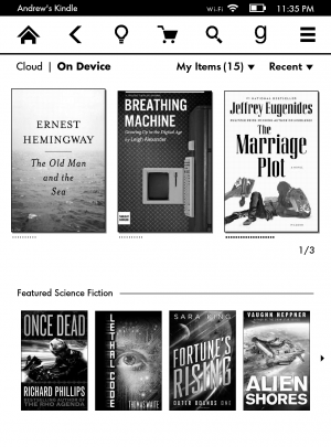 The Kindle software hasn't changed much, and its best stuff is coming in a future update.