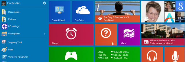 Hands-on with the Windows 10 Start menu—as big or as small as you want it