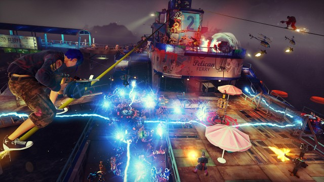 Throw traps, shoot guns, grind rails: that's the <em>Sunset Overdrive</em> way.