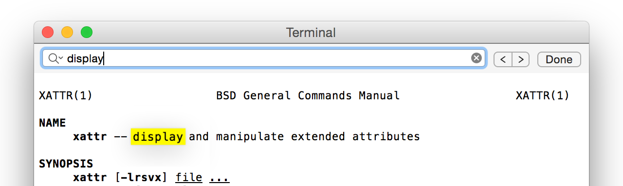 Terminal's new inline search field. Our baby's all grown up…