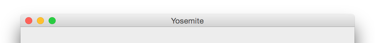 A Yosemite window title bar.