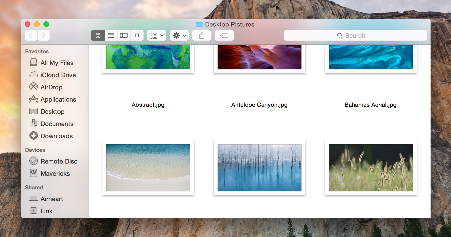 In Yosemite, uniform gray toolbars and sidebars are transformed into… well, something else.