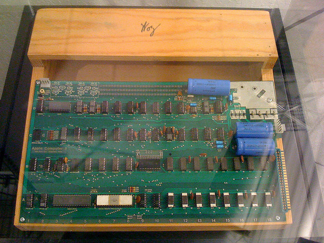 An Apple-1 from the Computer History Museum.